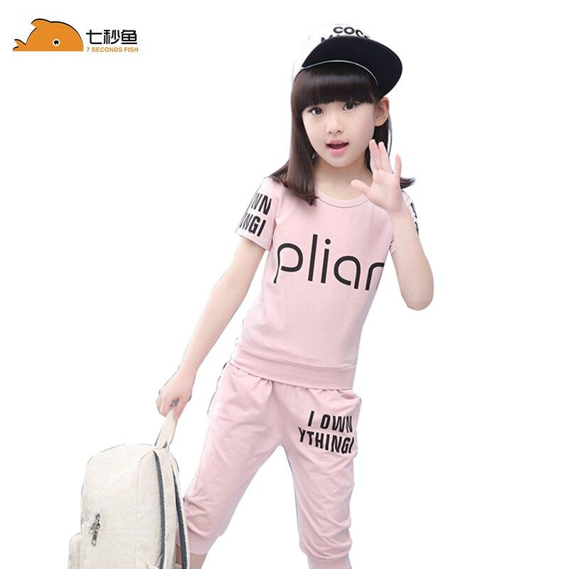 Girl Summer Set 2020 Kids Girl Sport Set Children Clothing Sets Toddler Clothes Short Sleeve Tracksuits For Girls Costumes
