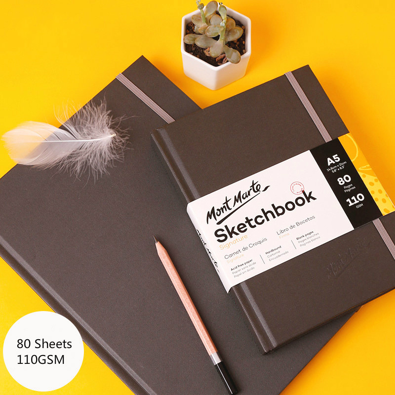 2020 Hardcover School Student A4 A3 A5 Sketchbook 80sheets 110g Artists Painting Drawing Paper Blank Pencil Sketch Paper