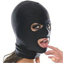 BDSM Bondage Restraints Sex Mask Exotic Accessories Eye Open Head Harness Elasticity Blindfold for Couples Fetish Slave