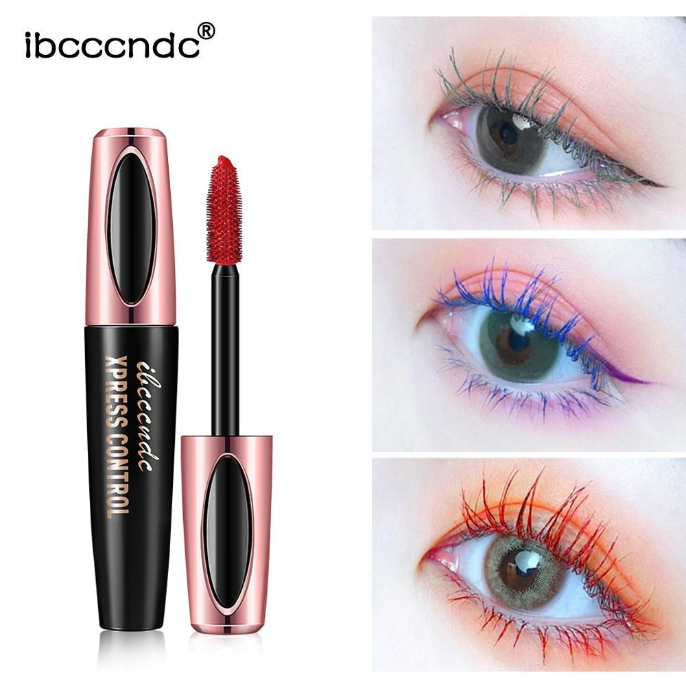 6Color Mascara Waterproof Fast Dry Eyelashes Curls Extension Make-Up Eyelashes Blue Pink Purple Black White Blue Mascara TSLM1