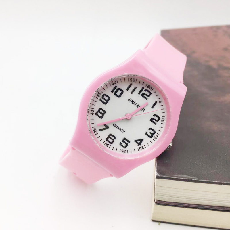 Hot Fashion Pink Jelly Strap Kids Watches Girls Analog Quartz Watch For Boy Student Sports Wristwatches Female Women Reloj Gift