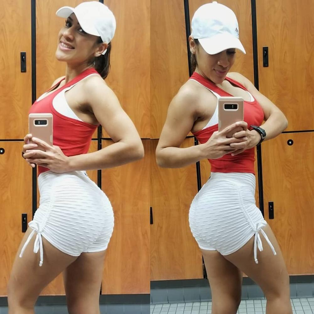 New Solid Sexy Push Up Leggings Women Fitness Clothing High Waist Pants Female Workout Breathable Skinny Black Leggings 5
