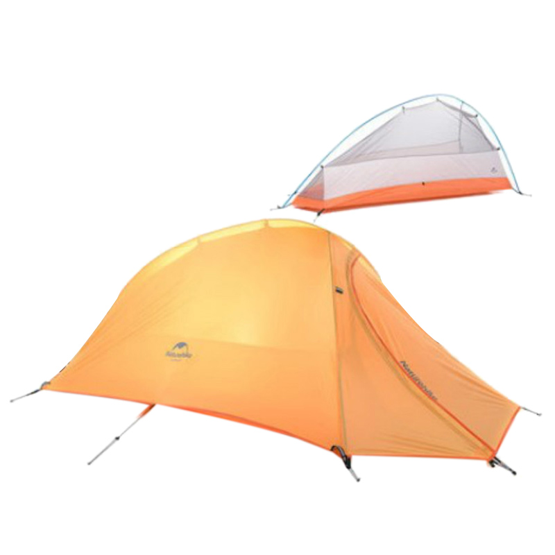 Outdoor Camping Tent Easy To Install Independent Dome Hiking Waterproof Backpack Tent Single Rain Outdoor Climbing Four Seasons