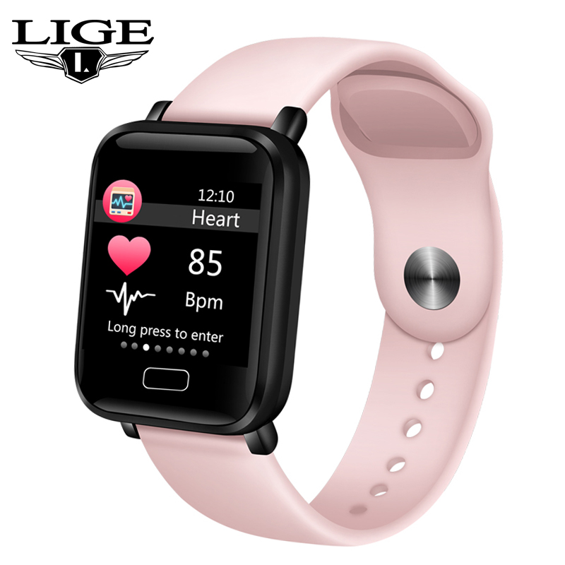 LIGE 2019 New Smart Watch Men Women Heart Rate Blood Pressure Health Monitor Pedometer Sport Fitness Watches Kid For Android IOS
