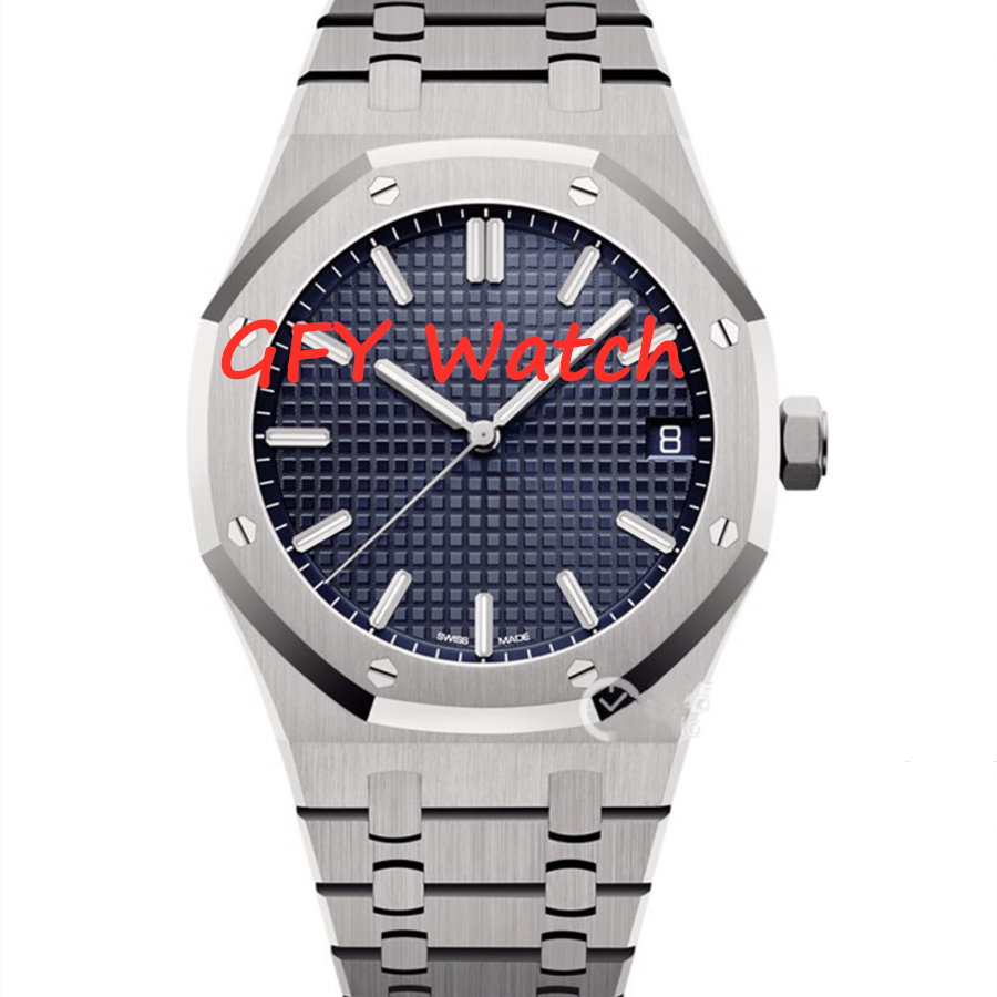 Men's Mechanical Watch 2813 Automatic Movement 1: 1 MIYOTA Blue Dial, JF 9015 Movement Stainless Steel Strap