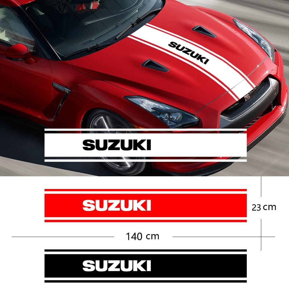 New Styling Car Hood Covers Vinyl Racing Sports Decal Head Car Sticker Car Accessories For Suzuki Jimny SWIFT VITARA SX4 Styling