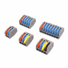 New Color Conector Mini Fast Wire Cable Connectors 221 222-413 SPL-2 3 Universal Compact Wiring Conductor Push-in Terminal Block