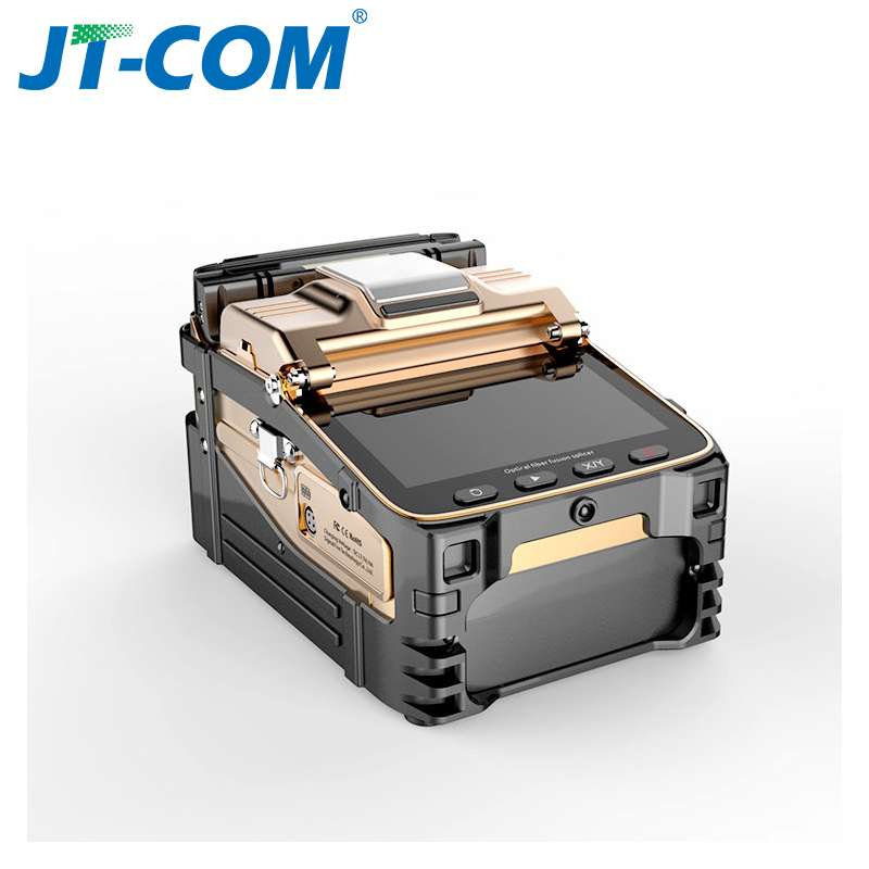 AI-8C  FTTH Fiber Optic Welding Splicing Machine Optical Fiber Fusion Splicer Automatic Intelligent