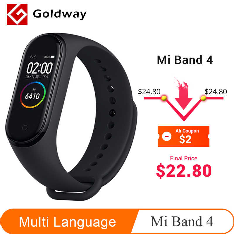 Xiao mi mi Band 4 Smart Armband 3 Farbe AMOLED Bildschirm mi band 4 Smartband Fitness Traker Bluetooth Sport Wasserdicht smart Band