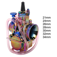 Motorcycle Multicolor Colorful Scooter Carburetor Carburador Carb Cable For Keihin PWK 21 24 26 28 30 32 34mm With Power Jets
