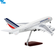 цена на Terebo Voice-activated A380 aircraft static model aviation passenger aircraft simulation Airbus prototype Collection gift