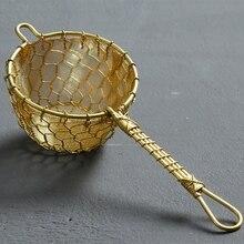 Чистый медный Чайный фильтр ручной работы чайный протекающий Чайный фильтр воронка кунг-фу Чайные Аксессуары