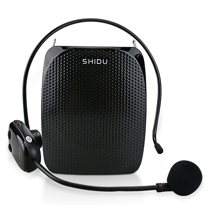 SHIDU 10W Voice Amplifier UHF Wireless Microphone Ultra Portable Mini Audio Speaker For Teachers Tourrist Yoga Instructors S615