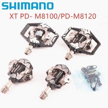 Shimano-pedales para bicicleta de montaña, Deore XT, PD-M8100, carrera, SPD, PD-M8120, con...