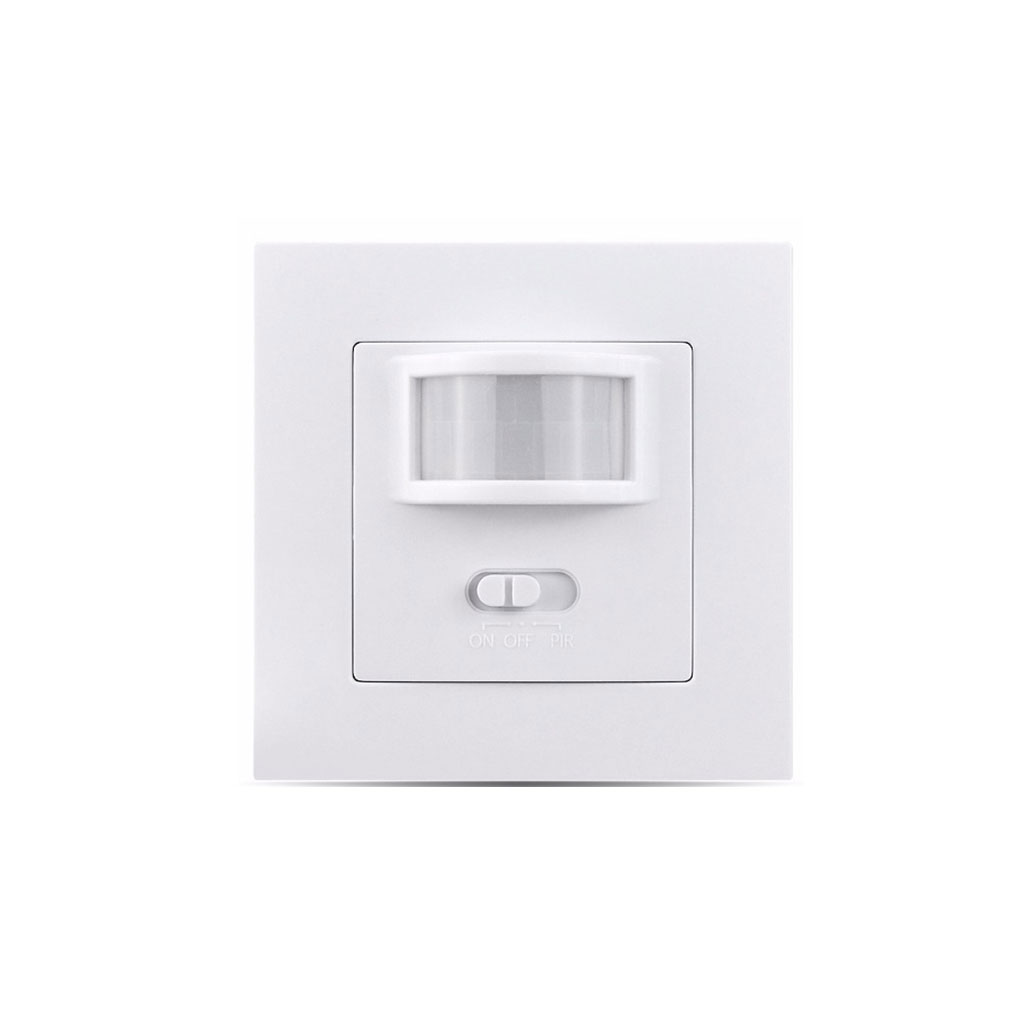 UK/EU Standard Infrared PIR Motion Sensor Switch Lamp Bulb Switch Wall Embedded Type Home Supplies