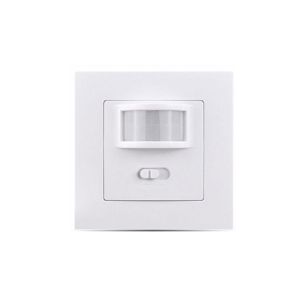 UK/EU Standard Infrared PIR Motion Sensor Switch Lamp Bulb Switch Wall Embedded Type Home Supplies