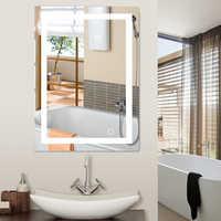 Liplasting אמבטיה מראה Led קוסמטי מראה מואר מראת איפור קיר רכוב בית אמבטיה מראה 2 גדלים HWC