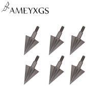 6pcs Archery Broadhead 100Grain Arrowhead Stainless Steel Conpound Bow Recurve Outdoor Shooting Accessories
