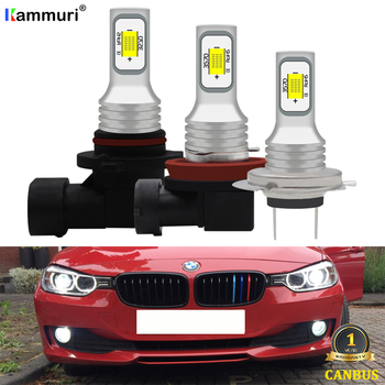 (2) 9006 HB4 H8 H11 H7 Led Bulb For BMW F48 F20 F21 E82 E87 E39 E60 E36 E93 E92 E91 E90 E46 F30 E38 Led Fog Driving Lights Lamp image