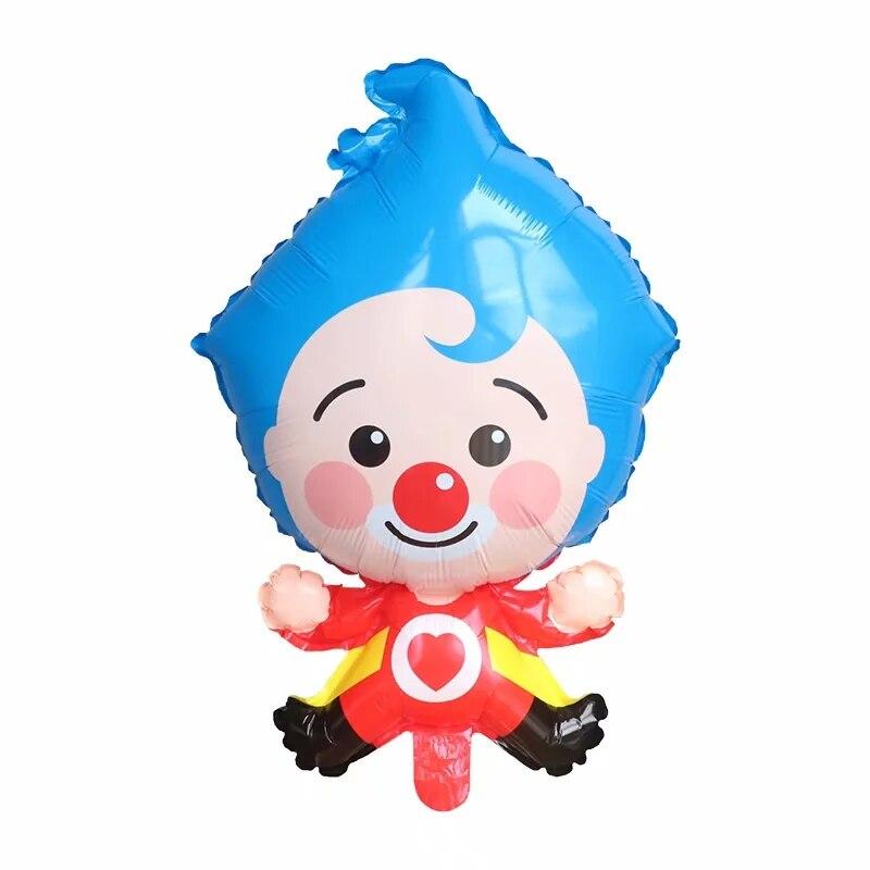 10 pçs dos desenhos animados palhaço 45x70cm plim folha de palhaço balões festa de aniversário decoração supplie chuveiro do bebê ar globos crianças brinquedos