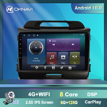 For Kia Sportage 2 Din 2011 2012 2013 2014 2015 2016 Car Radio Android 9 Inch Autoradio Multimedia Video Player Accessories image