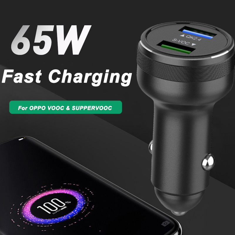 65w supervooc 2.0 carregador de carro rápido tipo de carregamento do carro cabo c para oppo a92s reno 3 ace 2 x20 x2 x50 r17 r9s k5 realme x q v5 5g Carregadores de celular    -