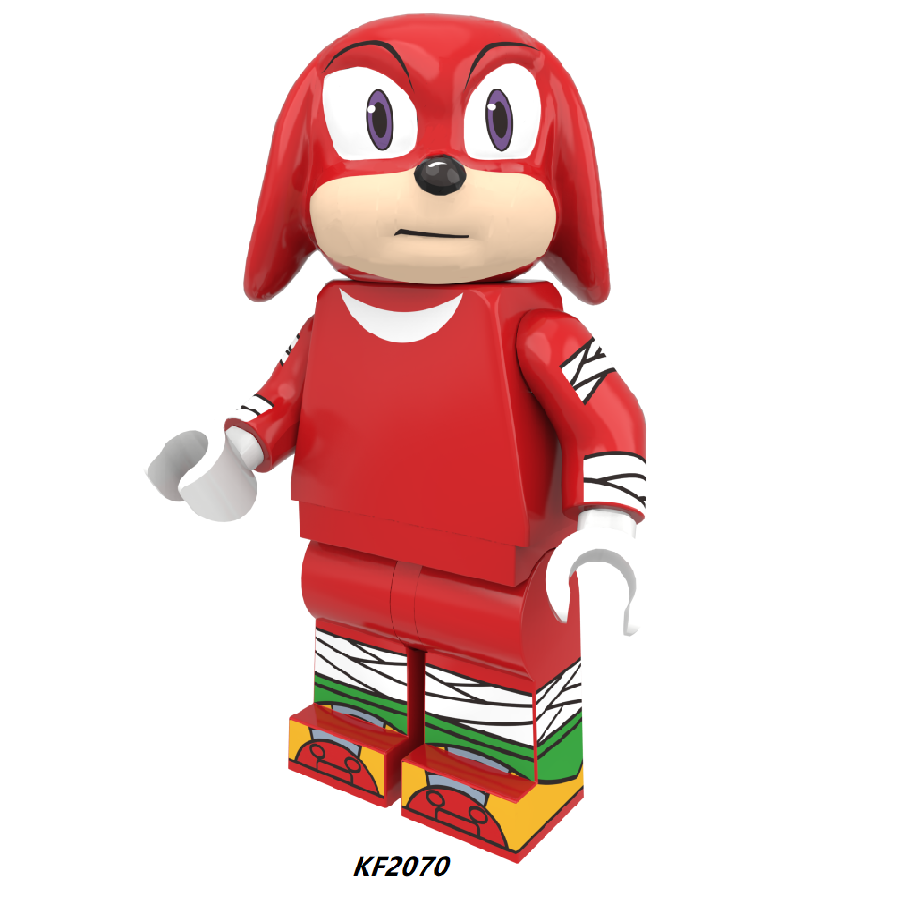 7pcs Building Blocks Super Sonicing Anime Shadow Knuckles Girl Snow World Animal Hedgehog Action Figure Toy For Children