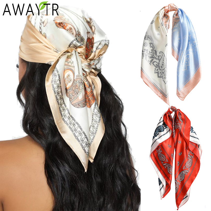Floral Print Scrunchies Hair Scarf Bohemia Women Ribbon Hairbands Streamers Bow Hair Rope Ties Holder Ponytail Hair Accessories