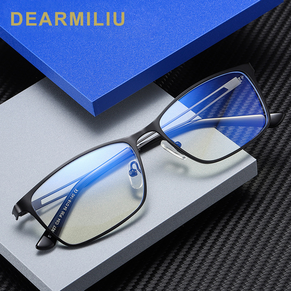 DEARMILIU 2020 New Glasses Metal Small Frame Blue Light Blocking Luxury Brand Rectangular Frame Reading Computer Gafas 5927