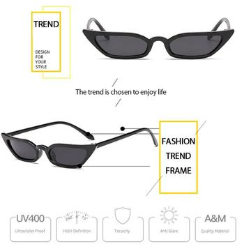 2020 Fashion Uv400 Sunglasses Woman Man Brand Designer Vintage Retro Triangular Cat Eye Glasses For Sports Party Driving Cycling image