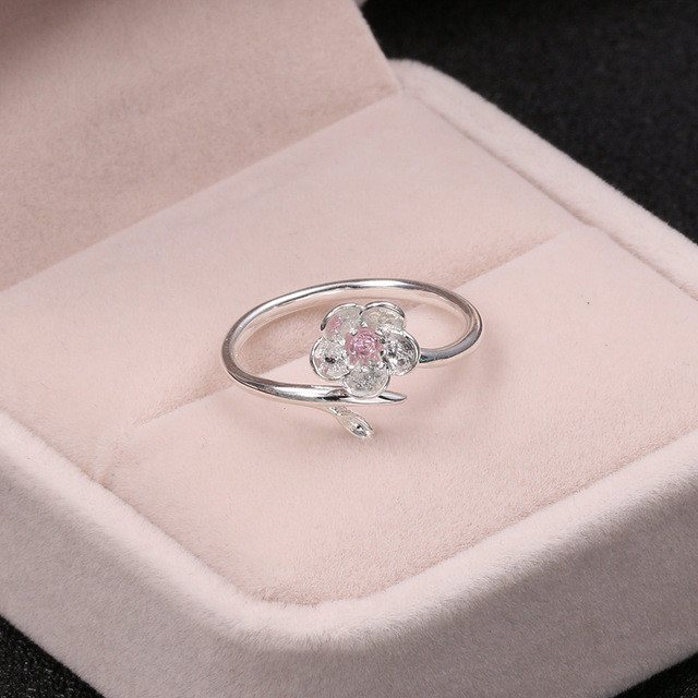Silver 925 Jewelry Purple Zircon Cherry Ring Simple Fashion Silver Ring For Women Engagement Wedding Elegant Accessories 3