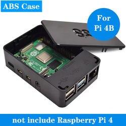 Raspberry Pi 4 Чехол черный ABS чехол Raspberry Pi 4B пластиковый корпус Корпуса для Raspberry Pi 4 Модель B