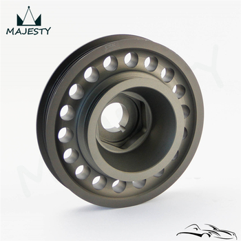 Light Weight Aluminum Crank Crankshaft Pulley For 93-01  Prelude H22 VTEC