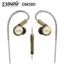 DUNU DM380 Linearlayout לשלושה טיטניום סרעפת נהג ב אוזן אוזניות HiFi פעיל מוצלב עם מיקרופון/3 כפתורים בקלות מונע
