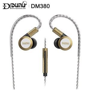 Image 1 - DUNU DM380 Linearlayout Triple Titanium Diafragma Driver In Ear Oortelefoon HiFi Actieve Crossover met MIC/3 knoppen Gemakkelijk Gedreven