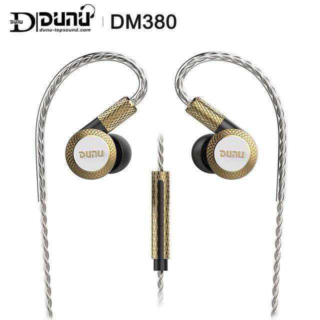 DUNU DM380 Linearlayout Triple Titanium Diafragma Driver In Ear Oortelefoon HiFi Actieve Crossover met MIC/3 knoppen Gemakkelijk Gedreven