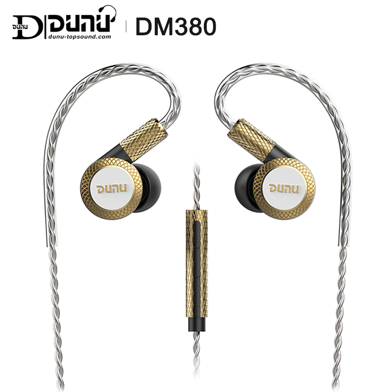 DUNU DM380 Linearlayout Triple Titanium Diaphragm Driver In-ear Earphone HiFi Active Crossover With MIC/3 Buttons Easily Driven