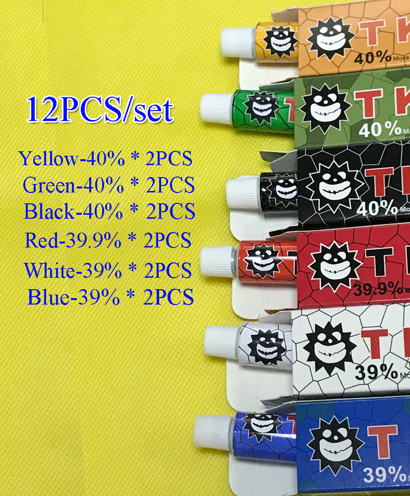 12pcs Before For Tktx Tattoo Cream  Permanent Makeup Eyebrow Lips Eyeliner Assistance 10g