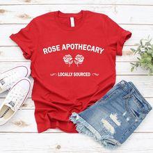 Рубашка с изображением розы аптеки  футболка графическим рисунком