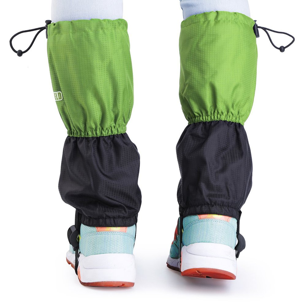 1Pair Bluefield Children Waterproof Breathable Gaiters Outdoor Protective Leg Feet Cover Leg Gaiters For Skiing Hiking