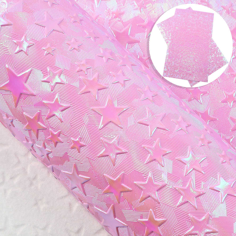 David accessories 20*34cm Star Bump Texture Synthetic Leather Patchwork For Hair Bow Bag Wallet Phone Cover DIY,1Yc10306