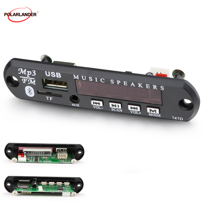 AUX WMA Audio Receiver Auto <font><b>Kit</b></font> <font><b>MP3</b></font> <font><b>Player</b></font> <font><b>Decoder</b></font> <font><b>Board</b></font> 12V USB 3,5 Mm Bluetooth TF FM Radio DIY für Lautsprecher Haushalts Appliance image