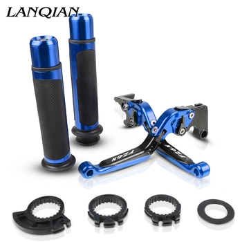 Motorcycle Accessories CNC Adjustable Brake Clutch Levers And Handle Grips With LOGO For SUZUKI GSR750 2011 2012 2013 2014-2016
