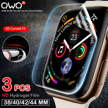 3PCS Screen Protector Film for Apple iWatch 4 5 2 3 1 40MM 44MM 38MM 42MM Full Cover Hydrogel Protective Film Not Tempered Glass