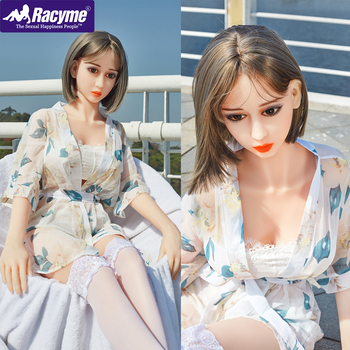 Racyme Sex Doll 162CM Realistic silicon Life Size Love Doll Small Breast Sex Doll TPE Soft Pussy Ass Adult Toys Sex doll for Men