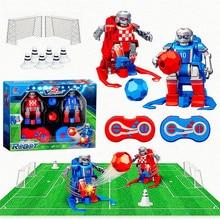 Горячая умный робот RC Мультфильм Играть Футбол роботизированное дистанционное управление игрушки Электрический футбольный Робот Игрушки для помещений для детей Подарки@ A