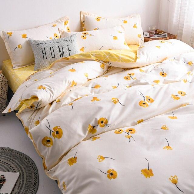 Classic Bedding Set Yellow Poppy