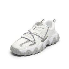 Мужские дышащие кроссовки Молодежная Спортивная обувь на шнуровке