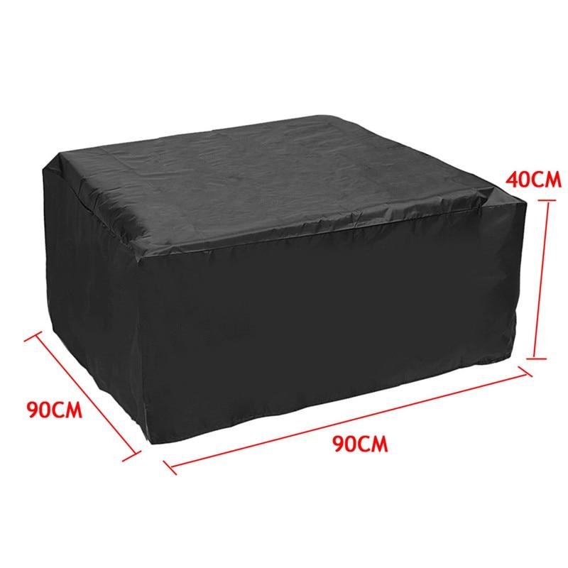 Large Rectangle Waterproof Rattan Cube Furniture Garden Outdoor Dust Rain Cover