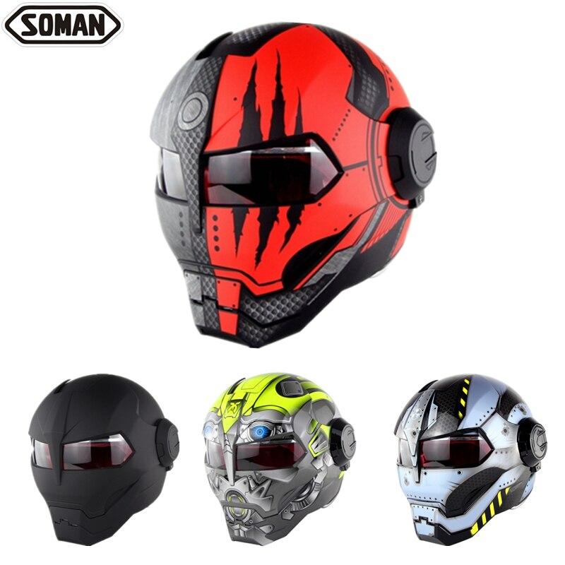 Soman casque de moto Ironman 515, pare chocs pour moteur, qualité d